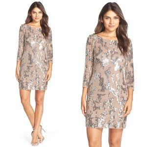 Adrianna Papell Sequin Beaded Cocktail Dress 12